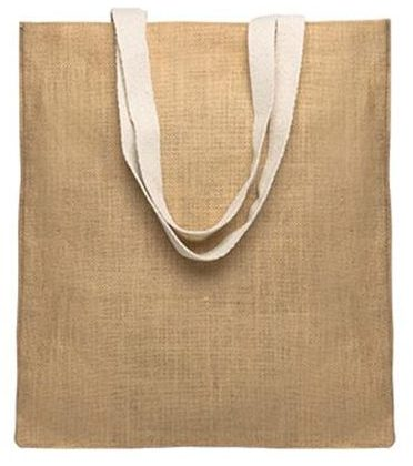 Jute bag, with cotton handles