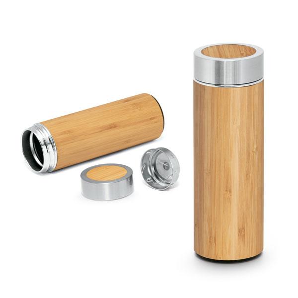 Garrafa termo em Bambu