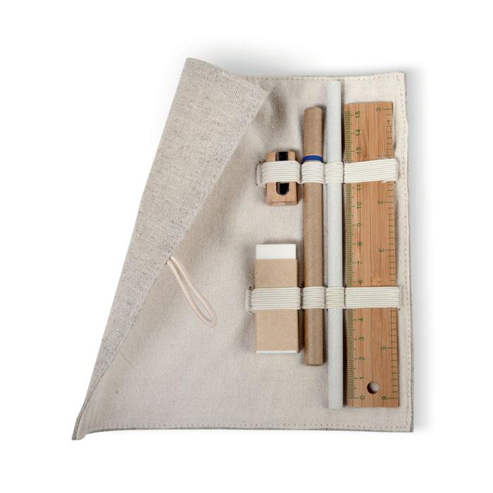 Set papeleria en bolsa algodón - ECOSET