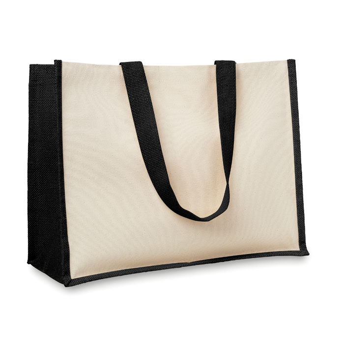 Jute and canvas shopping bag - CAMPO DE FIORI