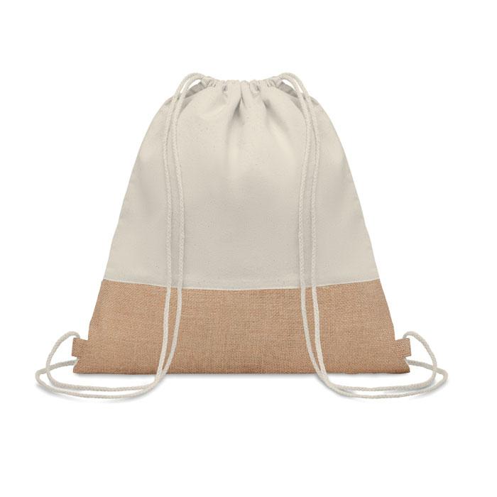Drawstring Bag W/ Jute Details - India