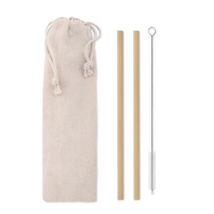 Palhinha Bambu escova bolsa - NATURAL STRAW