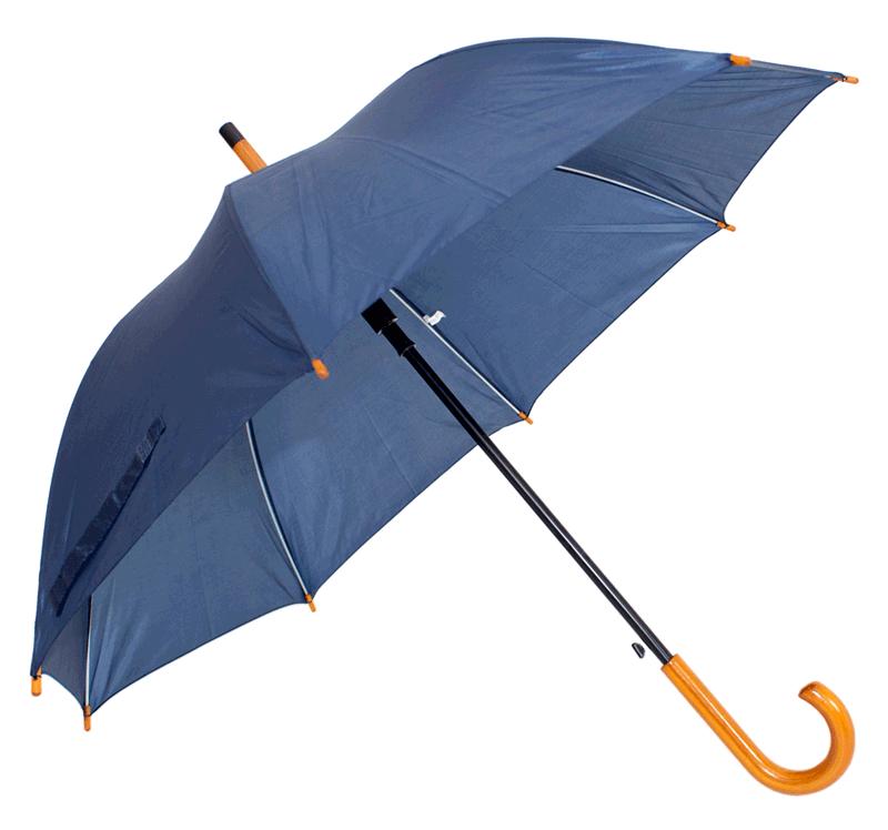 Guarda chuva automático com cabo de madeira