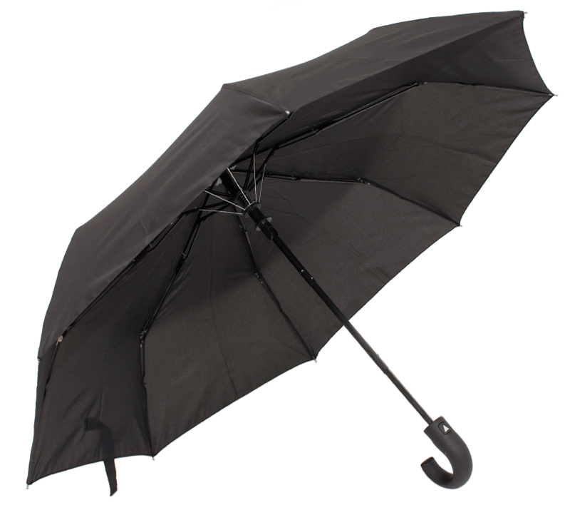 44 Black Foldable Umbrella