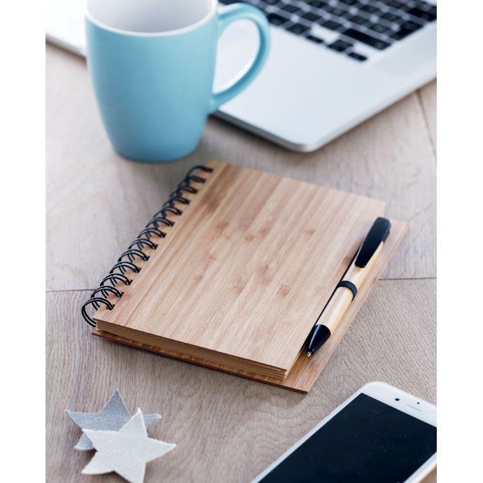 Bamboo Notebook With Pen - Bambloc