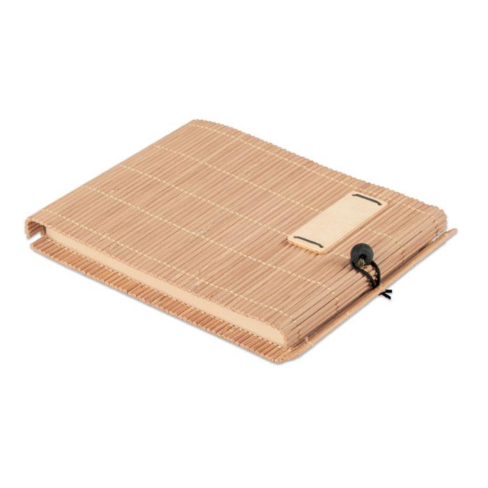 Caderno de Bambu com Caneta - Cortina Note
