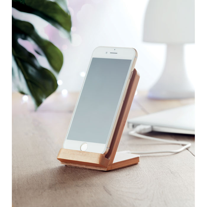 Bamboo wireless charging stand - WIRE&STAND