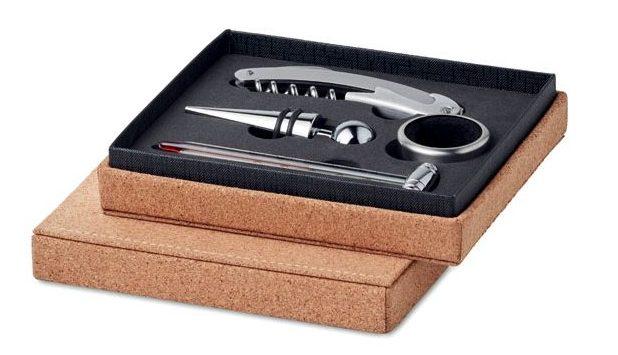 Wine set 4 pcs cork box - GISBORNE