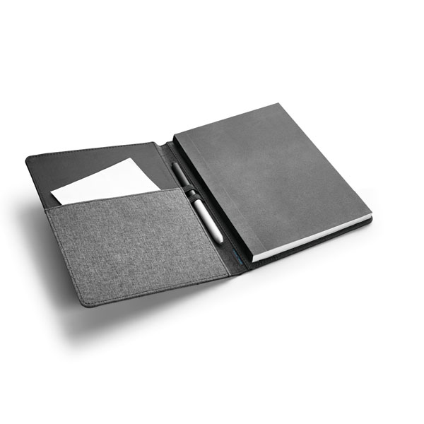 Folder with notepad and inner pouch