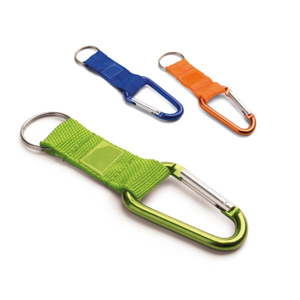Keyring with carabiner clip