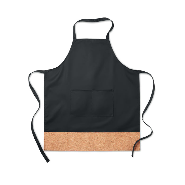 Apron with cork hem