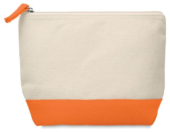 Bicolour cotton cosmetic bag - KLEUREN