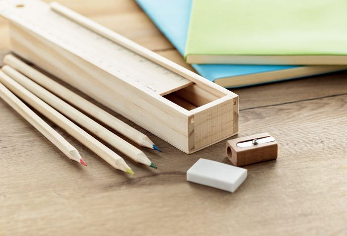 Stationery set in wooden box - TODO SET