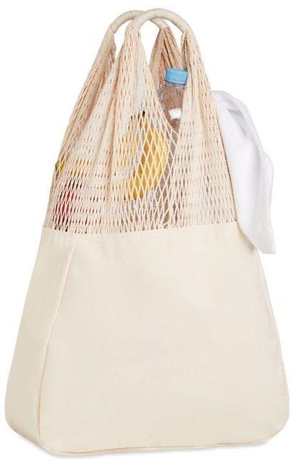 Beach bag cotton/mesh - BARBUDA