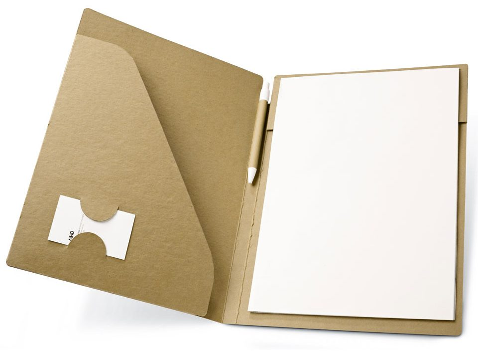 A4 folder with recycled notepad - POE