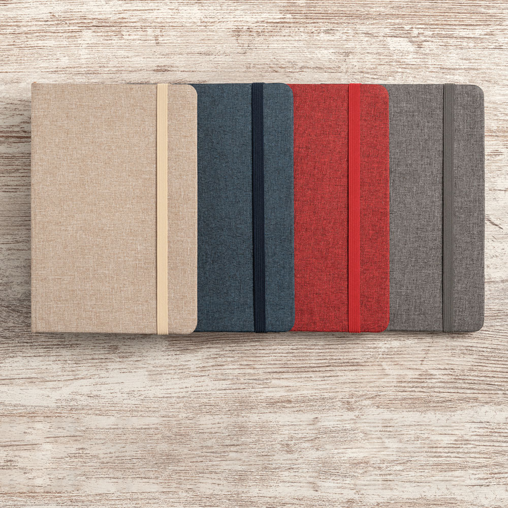 Notepad with fabric cover - HUGO