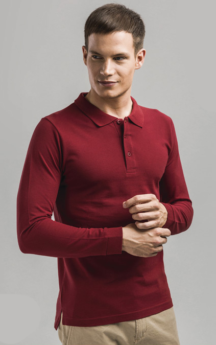 Men's Long Sleeve Polo Shirt - Bern