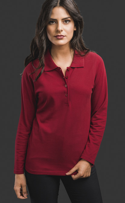 Women's Long Sleeve Polo Shirt - Bern Women
