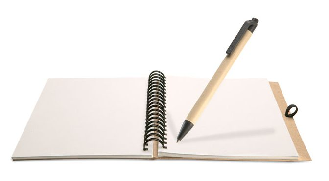 Recycled notebook and ball pen - BLOQUERO