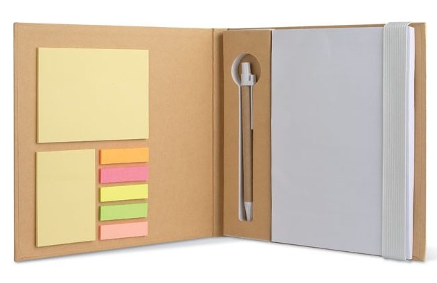 Notebook W/ Stickynotes & Pen - Quincy