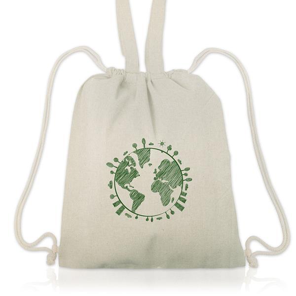 Saco mochila com alças 100 % algodão 140 gramas/m2