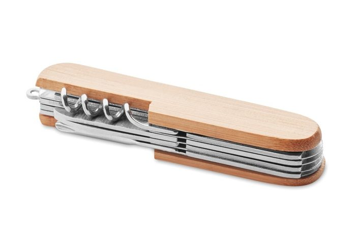 Multi tool pocket knife bamboo - Lucy Lux