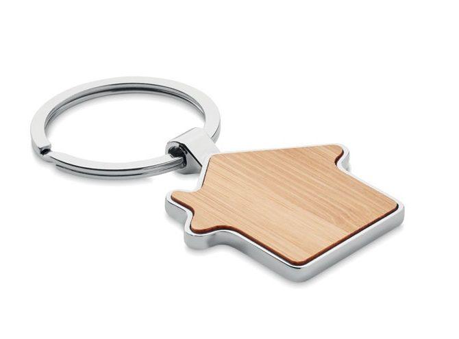 House key ring metal bamboo - Burnie
