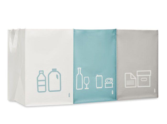 Conjunto Sacos Lixo Não-tecido RPET - Three Bin