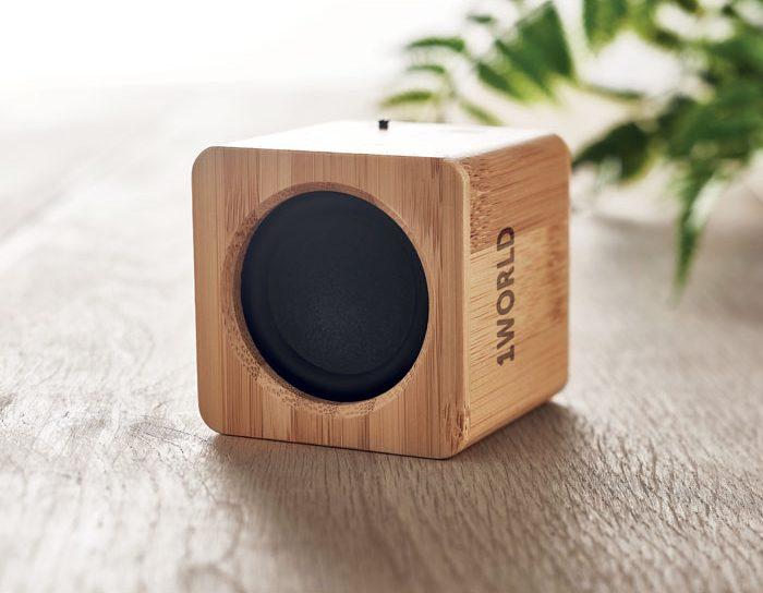 Altifalante Sem Fios em Bambu - Audio