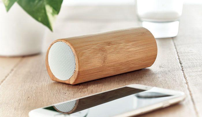 Altifalante S/ Fios 2x5W Bambu - Speakbox