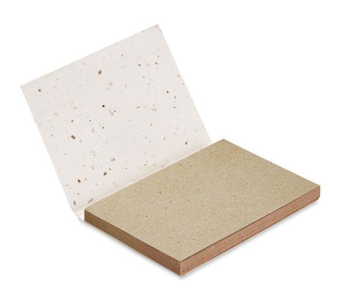 Grass Seed Paper Memo Block - Grow Me