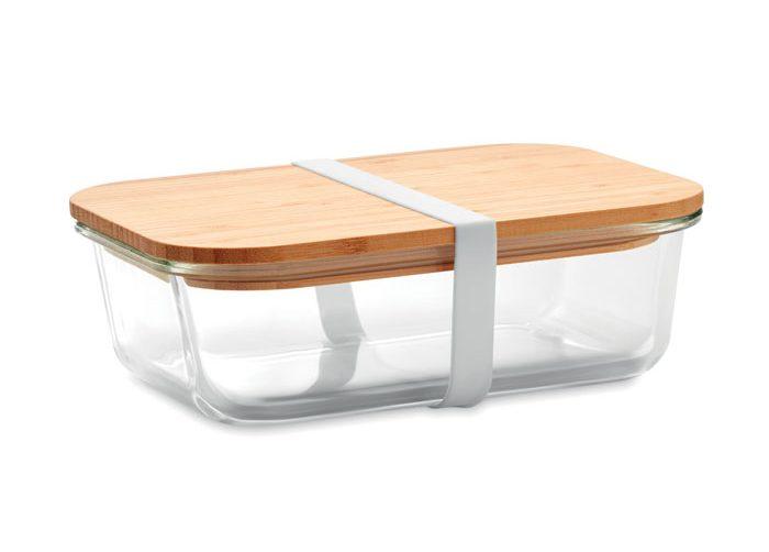 Fiambrera Vidrio Y Tapa Bambú - Tundra Lunchbox